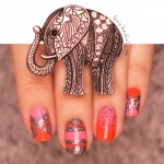 stripping tape, Essie, elephant, piCture pOlish, gradient, néon, paillette , quichegirl