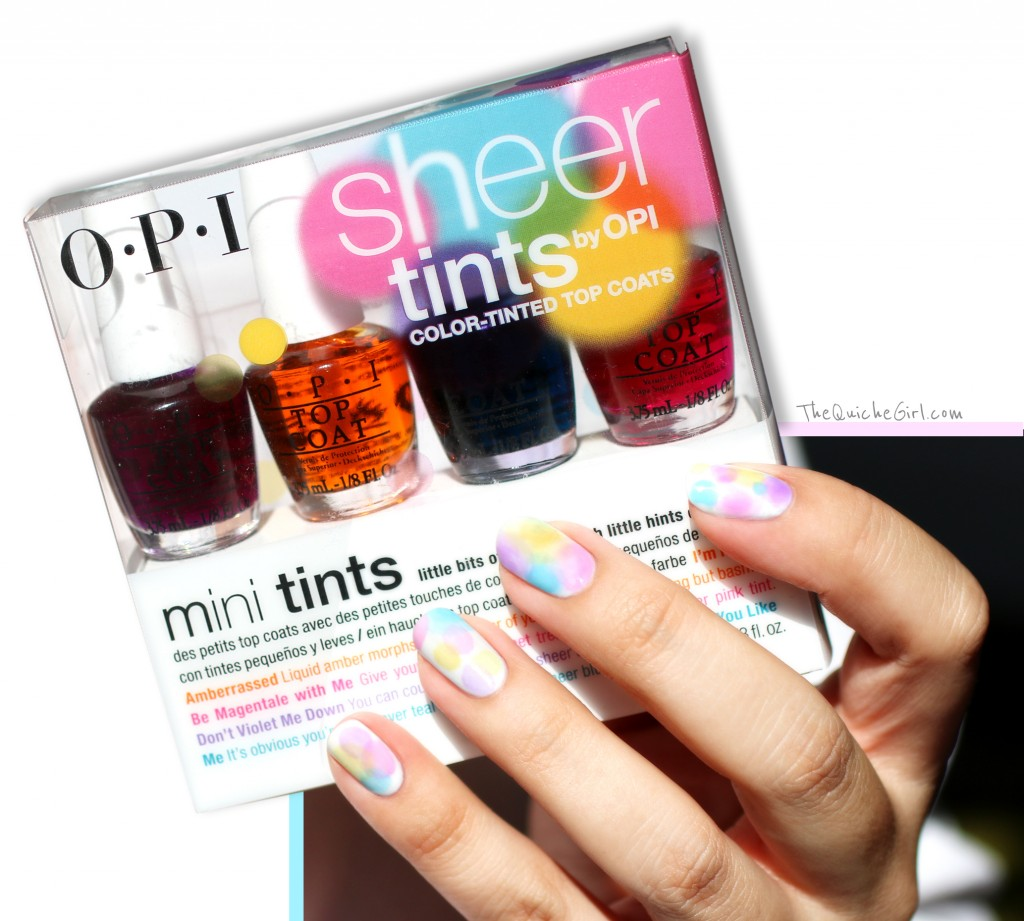 packaging, sheer tints, opi, QuicheGirl