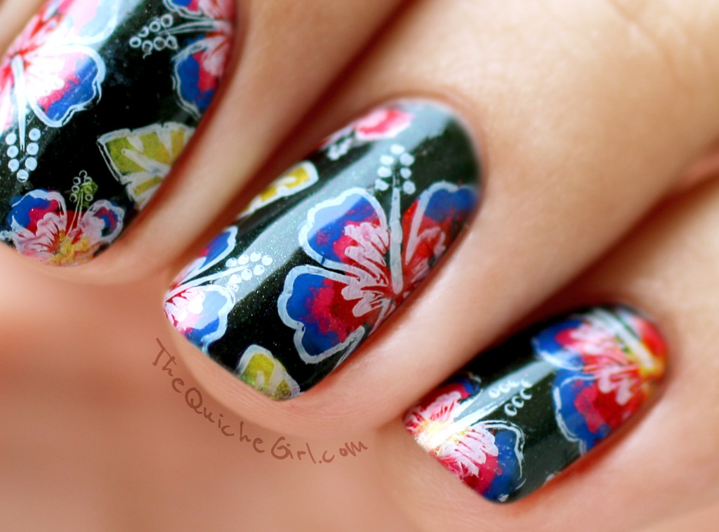 Mavala, technicolor, macro, fleurs, stamping, QuicheGirl