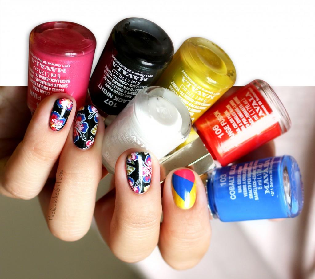Mavala, technicolor, packaging, fleurs, stamping, QuicheGirl