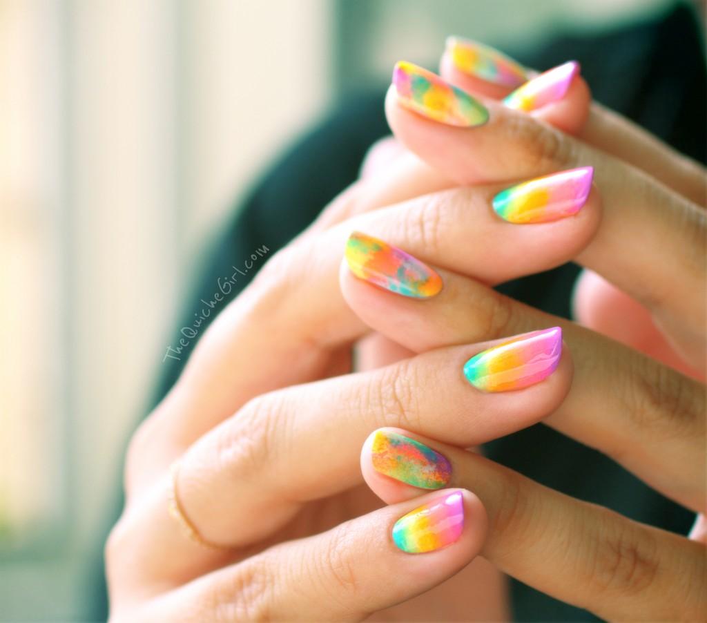 2 mains, neon, eponge, gradient, opi, china glaze, QuicheGirl