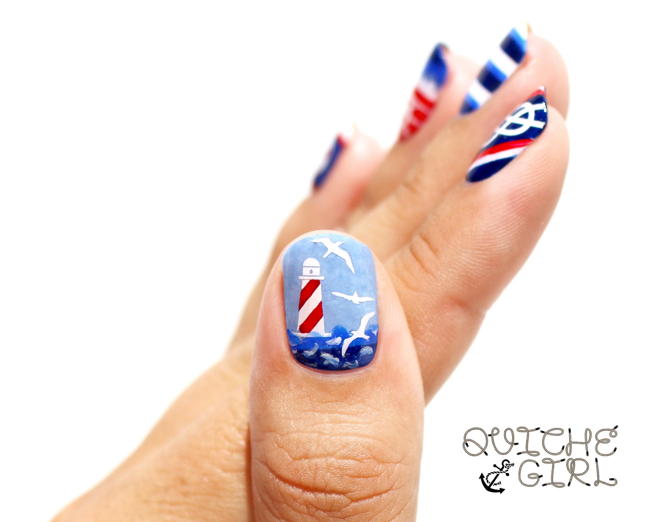 marine, phare, mouettes, rare nail, QuicheGirl