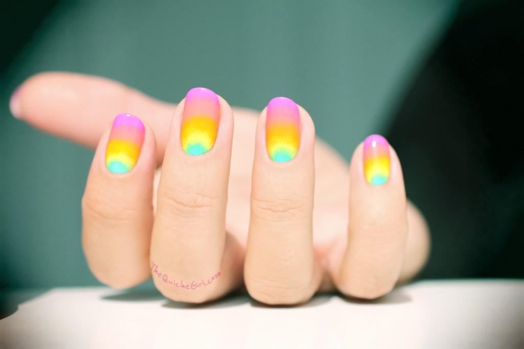 néon, gradient, éponge, rainbow,QuicheGirl