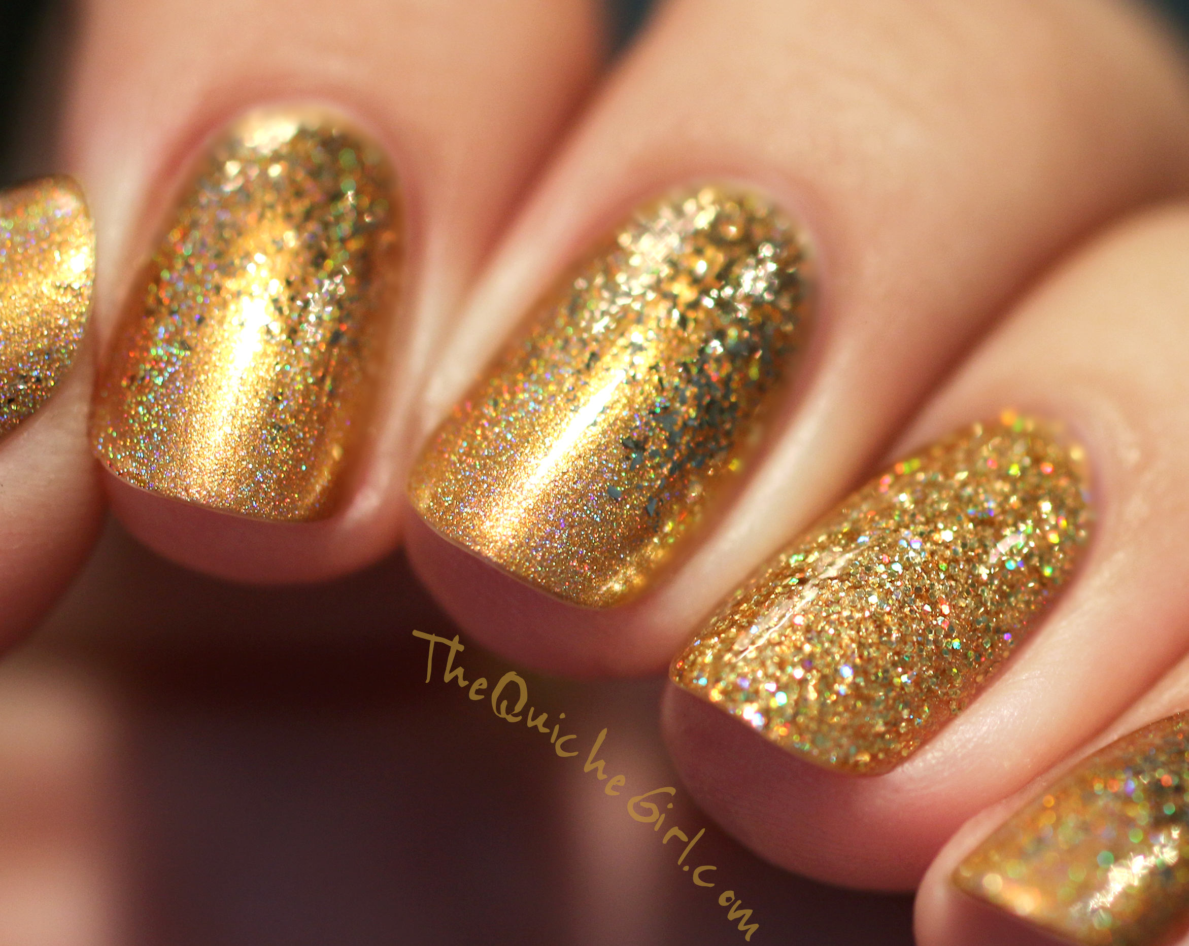 Or, Gold, Fun Lacquer, Nailstorming, artificiel light, QuicheGirl