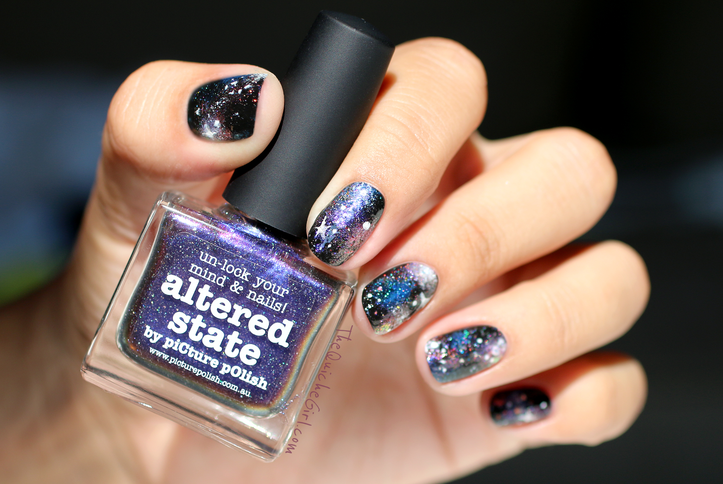 galaxy nails, nailstorming, altered state, packaging, QuicheGirl