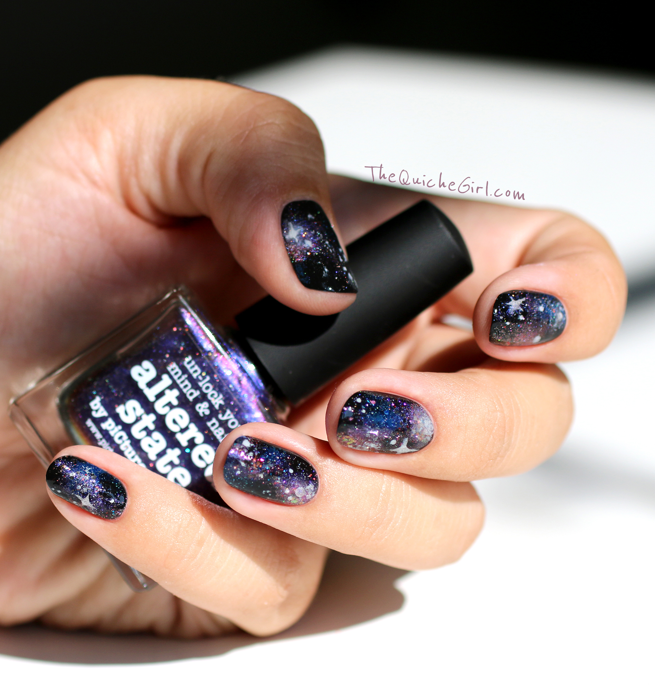 galaxy nails, nailstorming, packaging, altered state, QuicheGirl