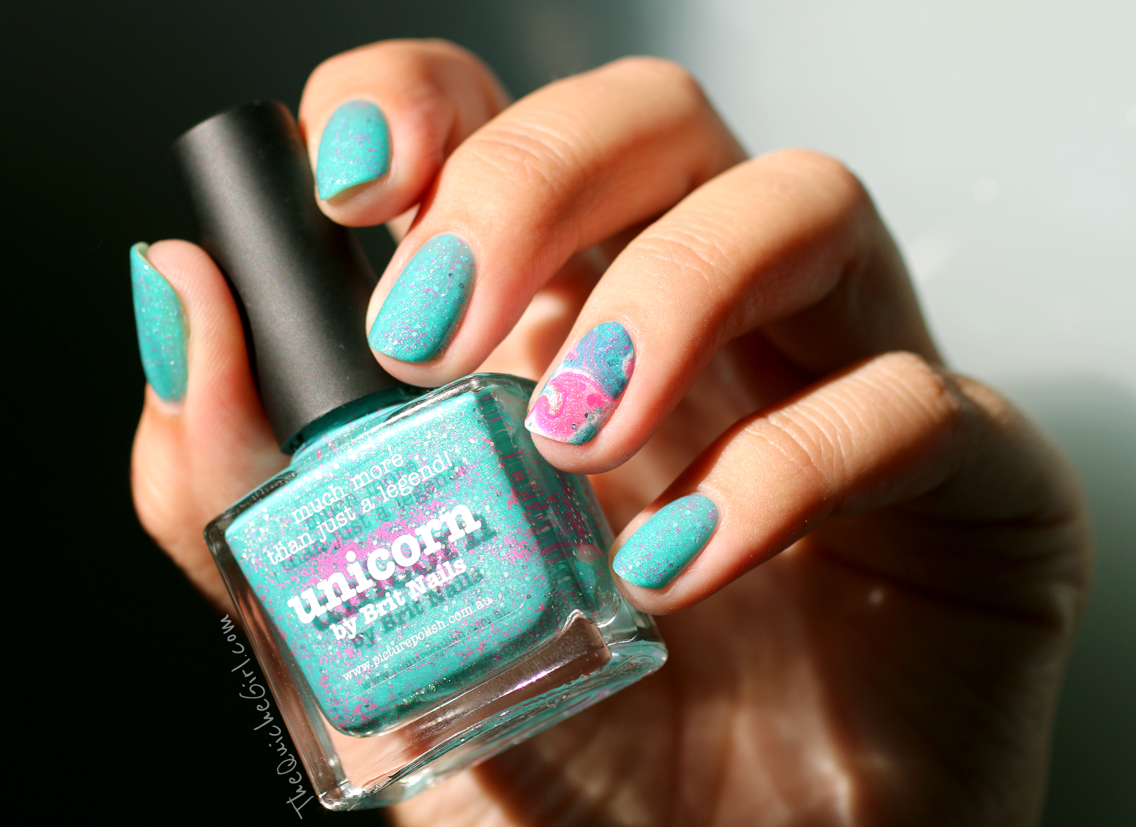 unicorn, Picture Polish, packaging, watermarble, QuicheGirl
