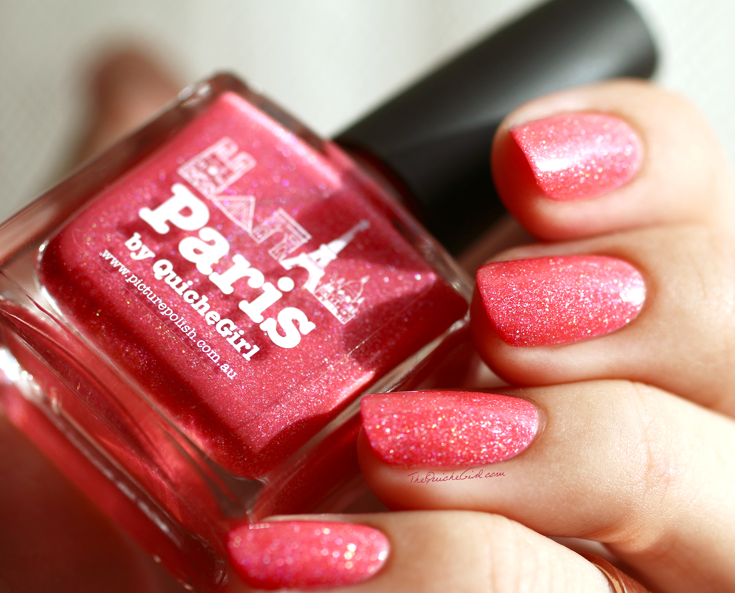 Paris, holographic, coral, particules, Picture Polish, QuicheGirl