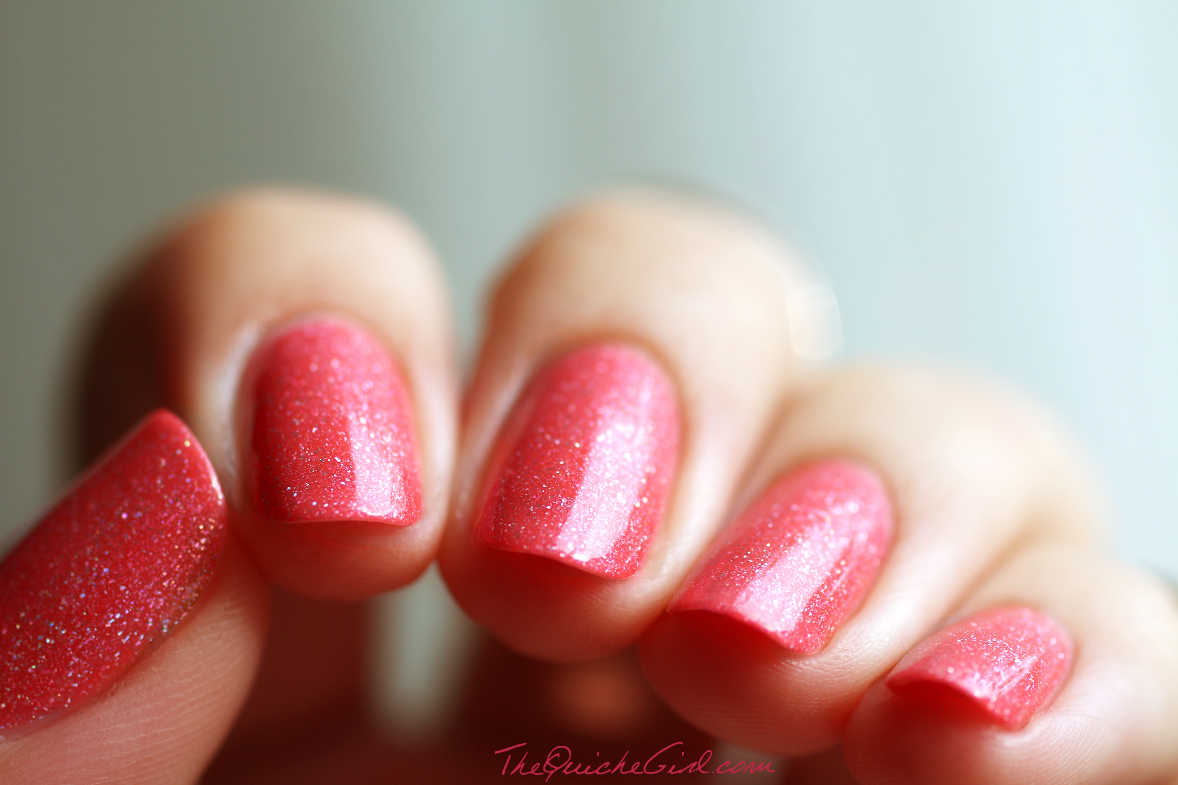 Paris, macro, coral, holographic, scatter, Picture Polish, QuicheGirl