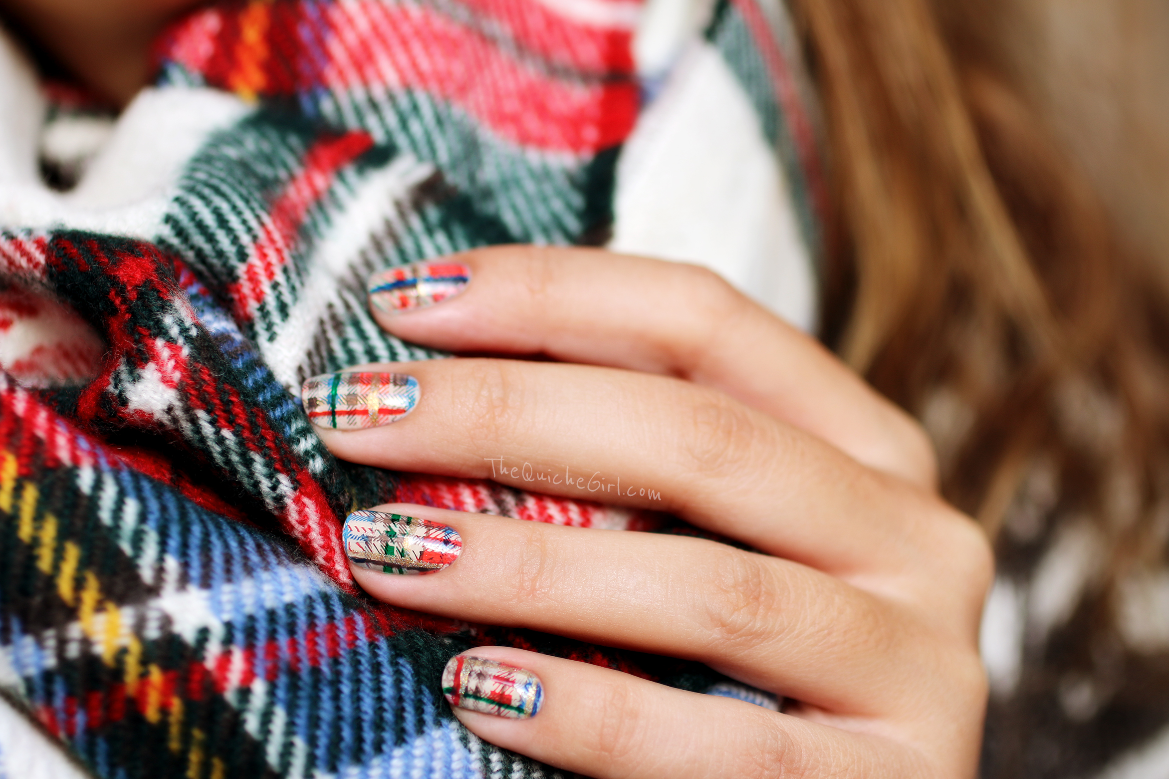 tartan, nailstorming, moyou, NCLA, Essie, Model Own, QuicheGirl
