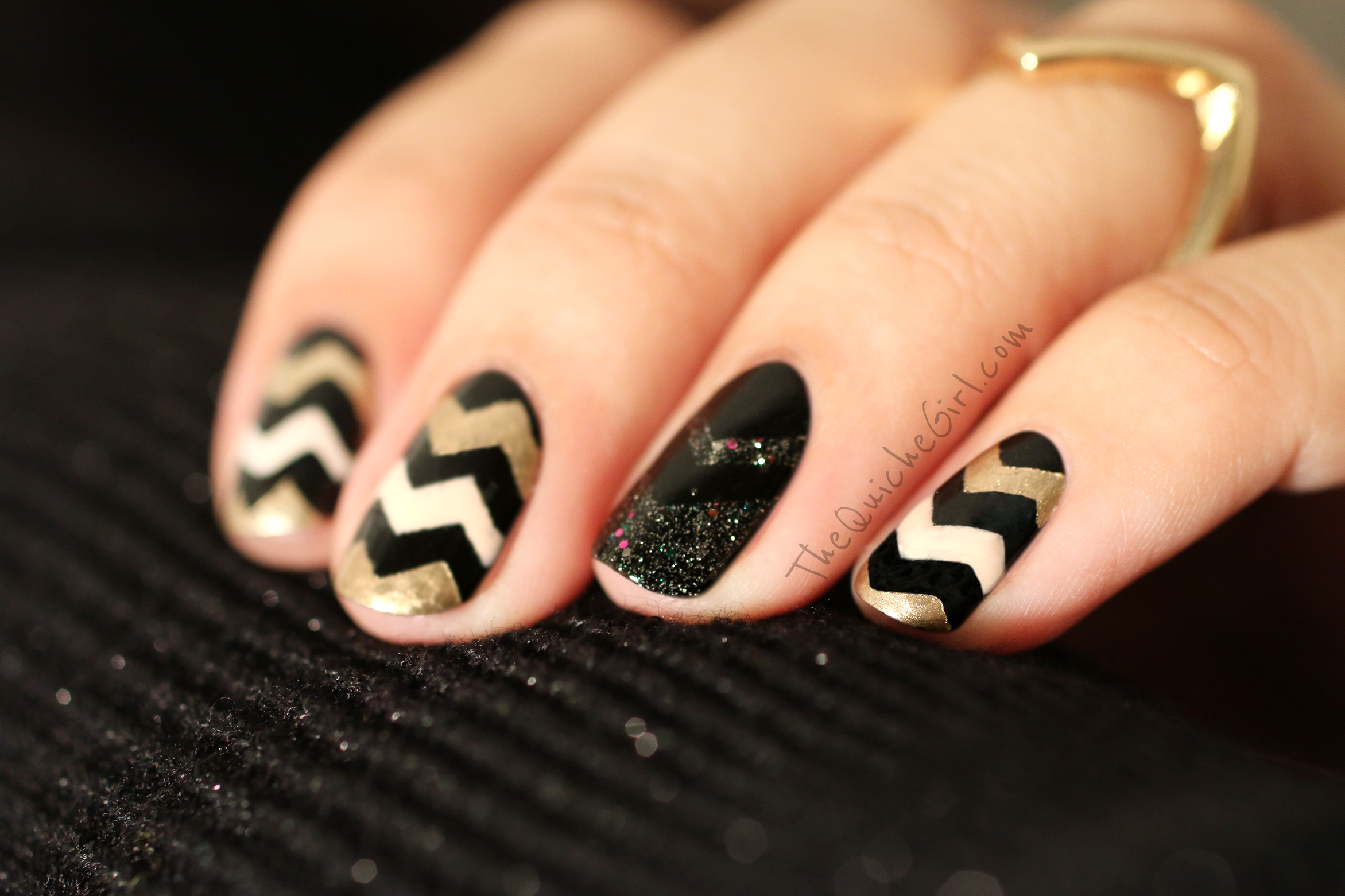 NCLA, Essie, Chevrons, 2015, nouvel an, QuicheGirl