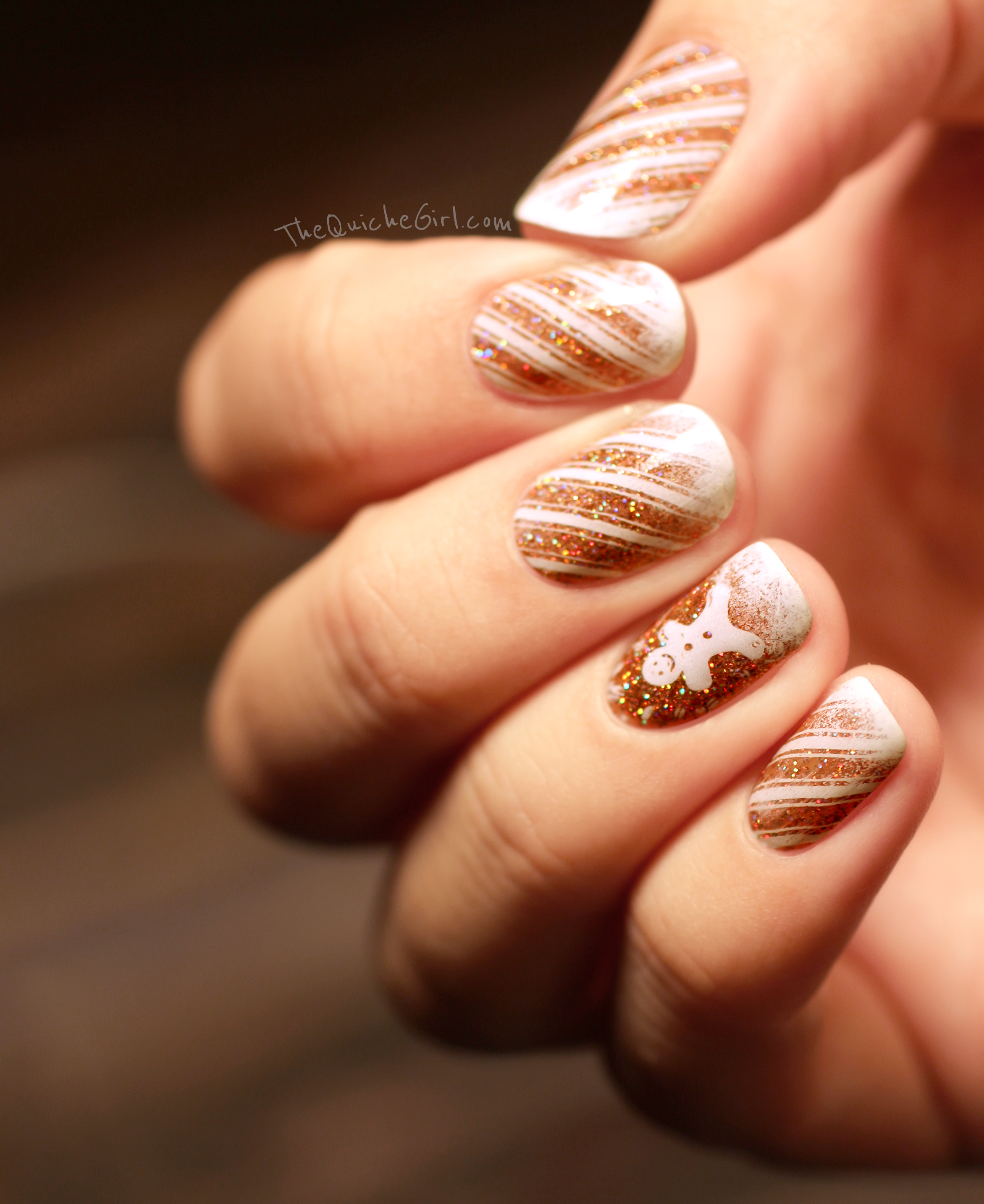 royal chapel, fun lacquer, macro,gingerbread, stamping, glitter , quichegirl