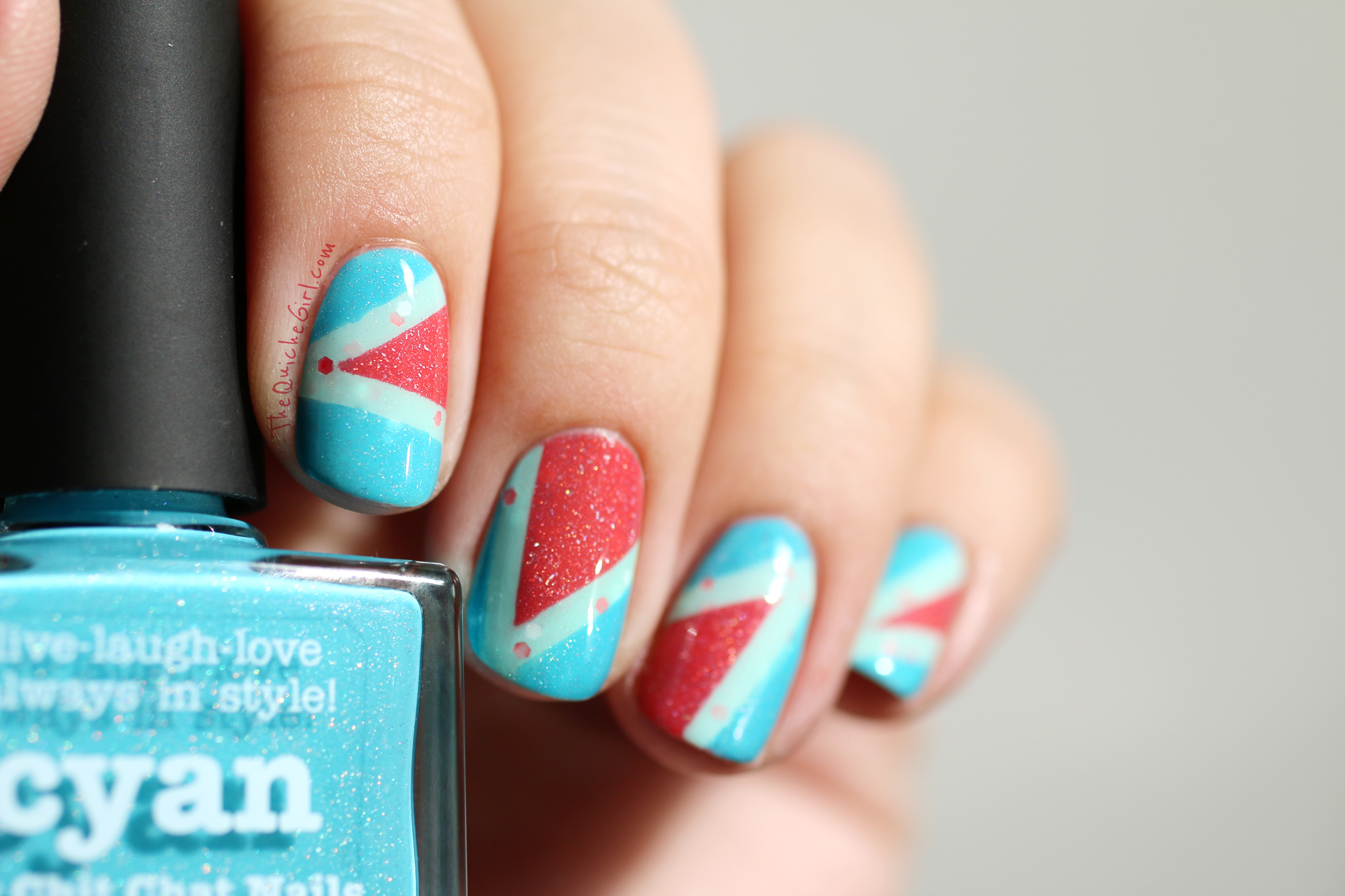 Cyan, Picture Polish, Packaging, triangle, QuicheGirl