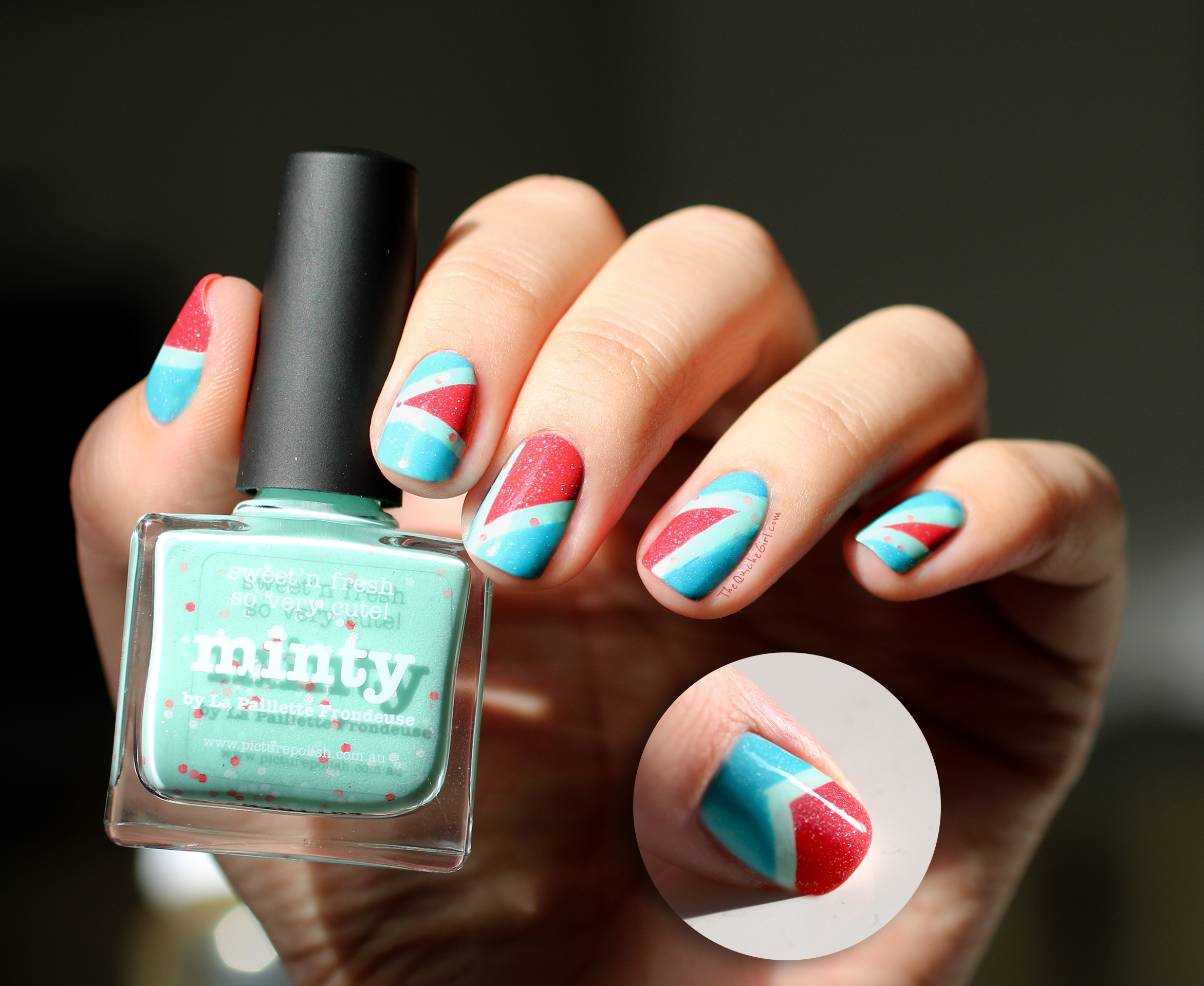 Minty, Picture Polish, Packaging, triangle, QuicheGirl