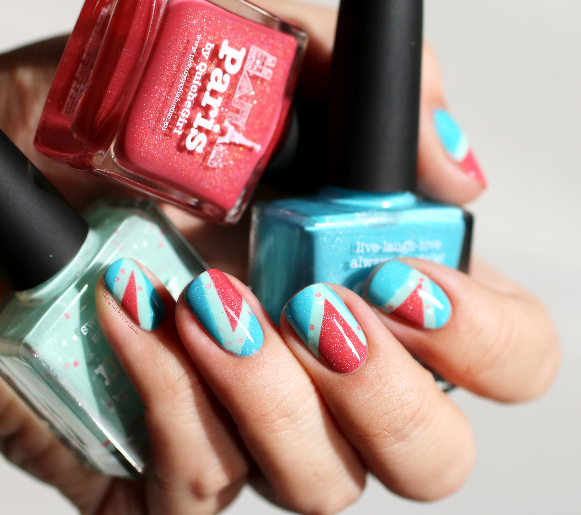 Paris, Minty, Cyan, Picture Polish, Pacckaging, triangle, QuicheGirl