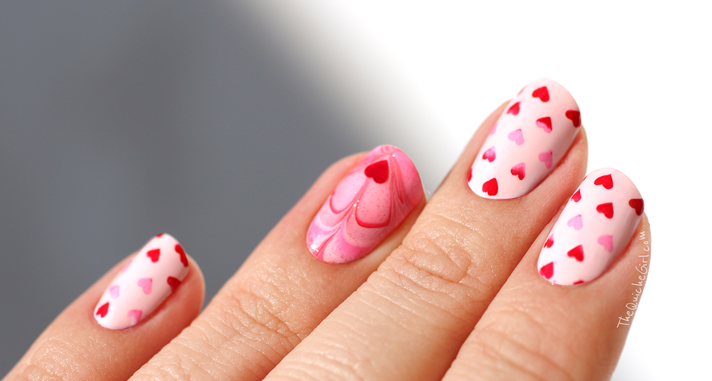St Valentin, stamping, NCLA, Picture Polish, rose,watermarble,Moyou, QuicheGirl