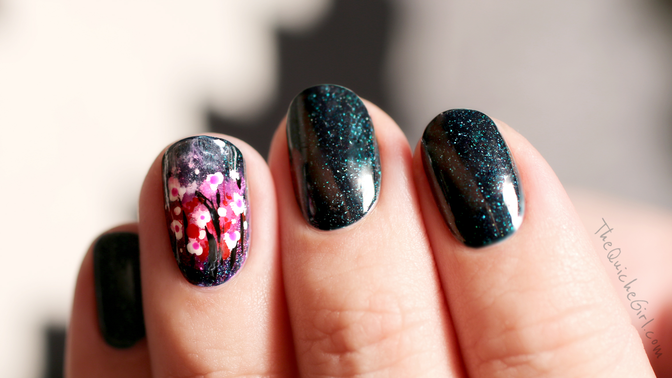 escapades, flowers,picture polish, QuicheGirl