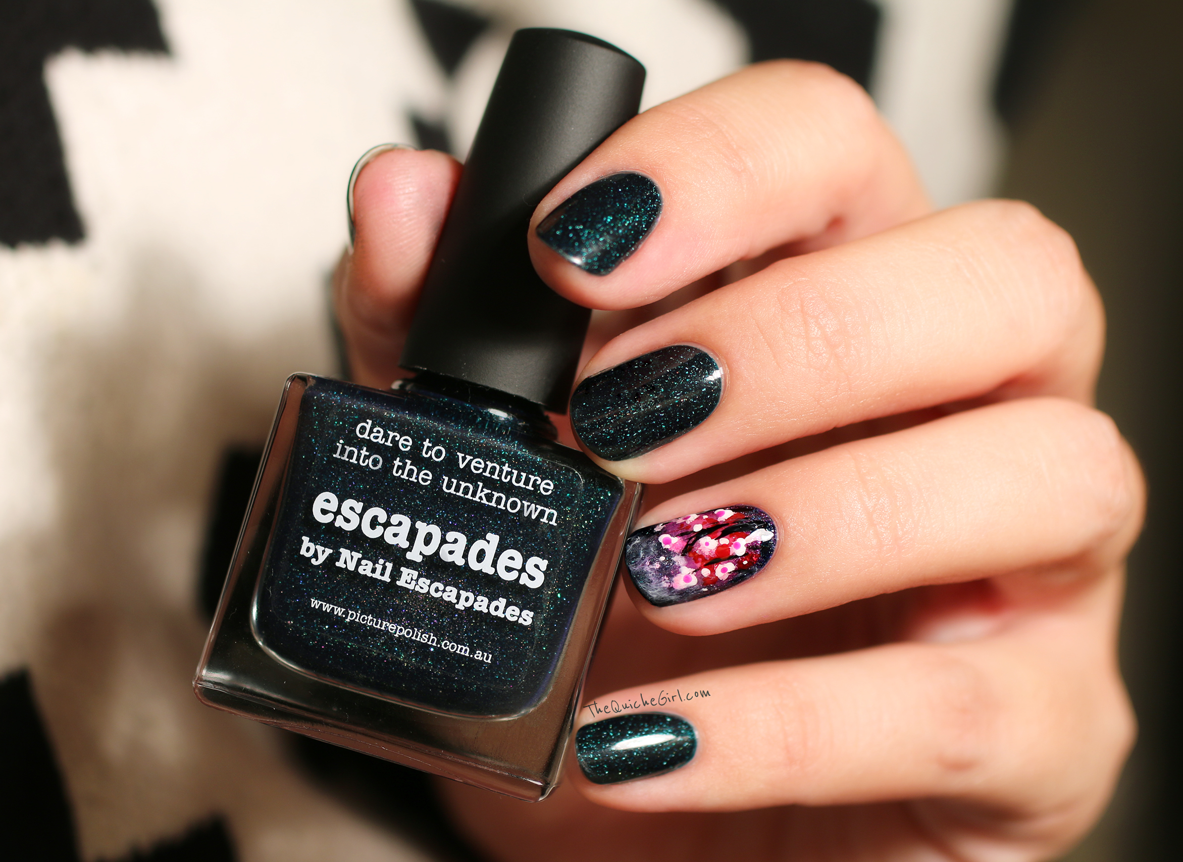 escapades, picture polish, flower, brume, QuicheGirl