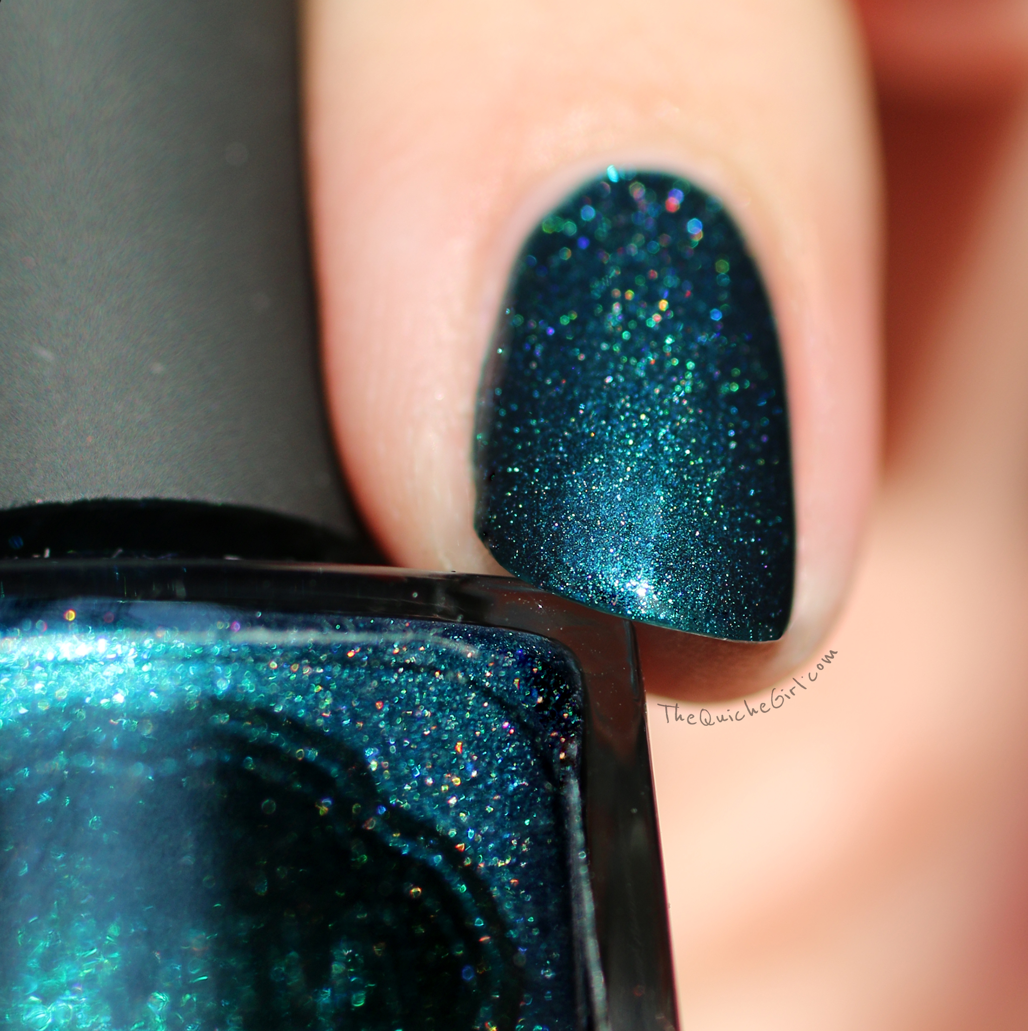 teal the end, il etait un vernis, macro, QuicheGirl