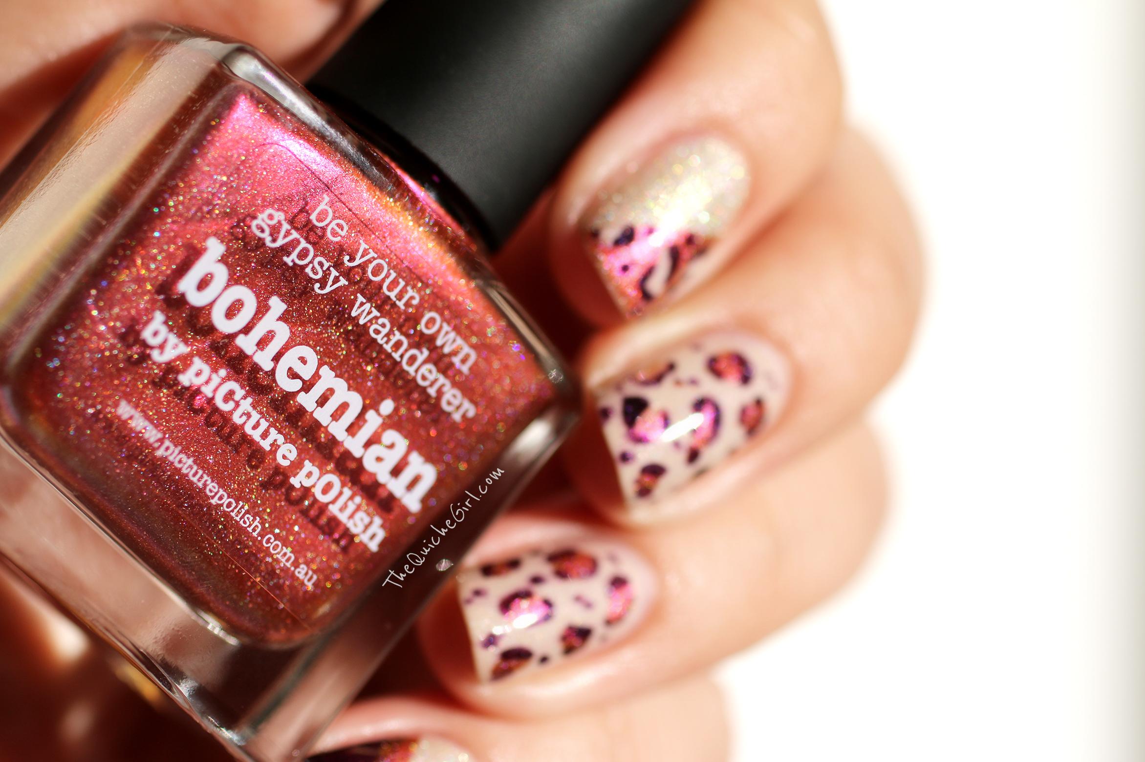 bohemian, nail art, QuicheGirl