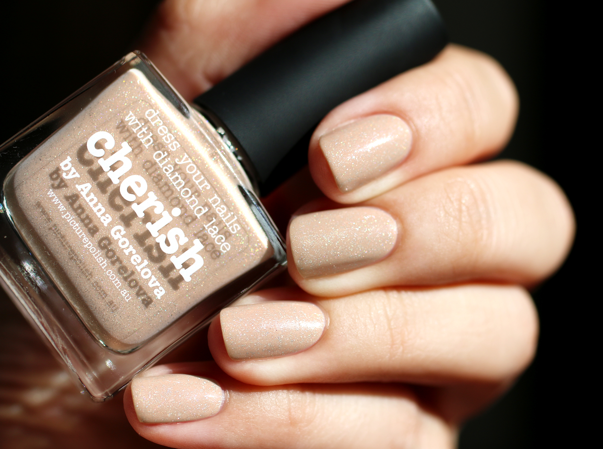 cherish, nude, piscture polish, packaging, quichegirl