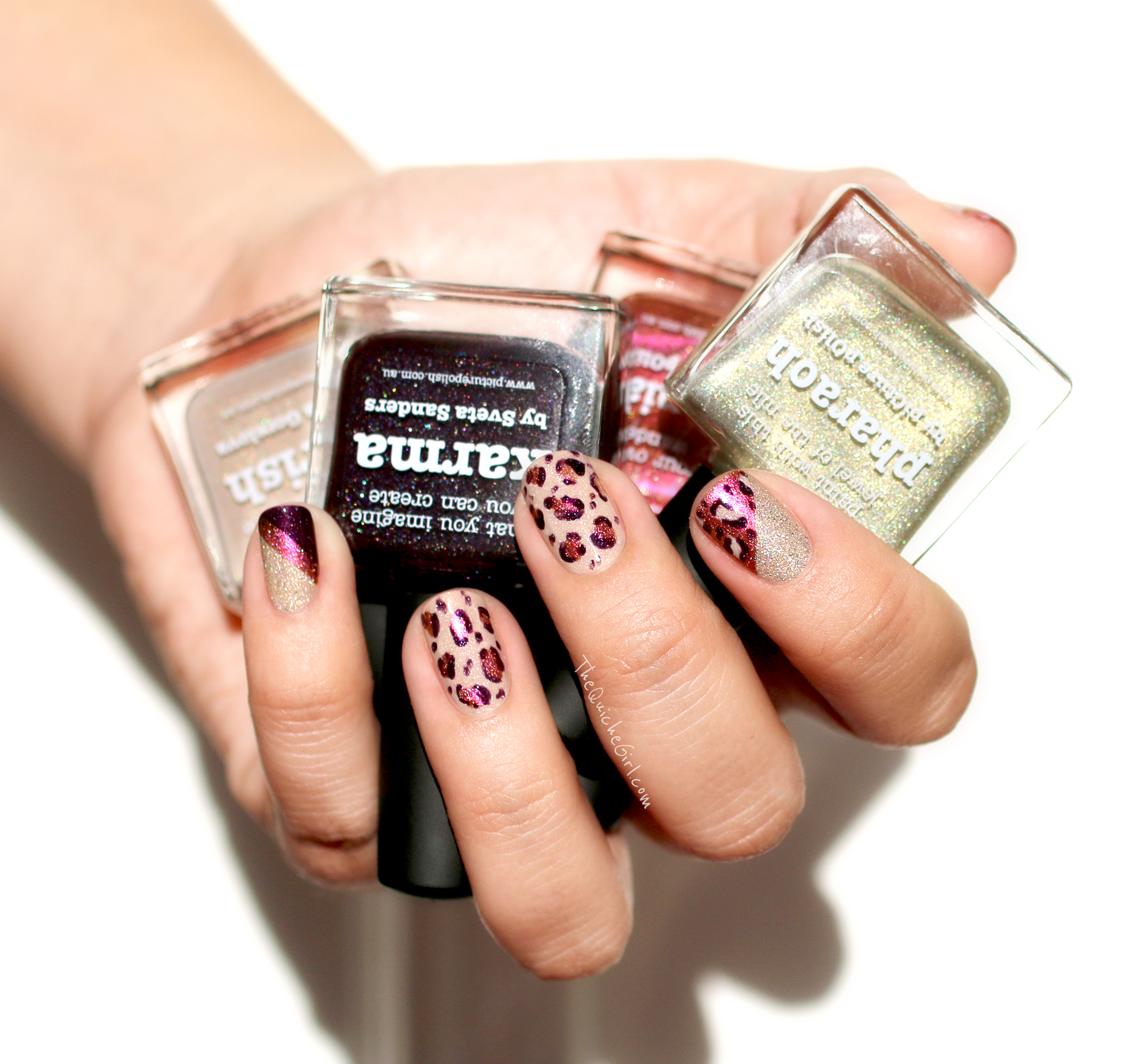packaging, nail art, leopard