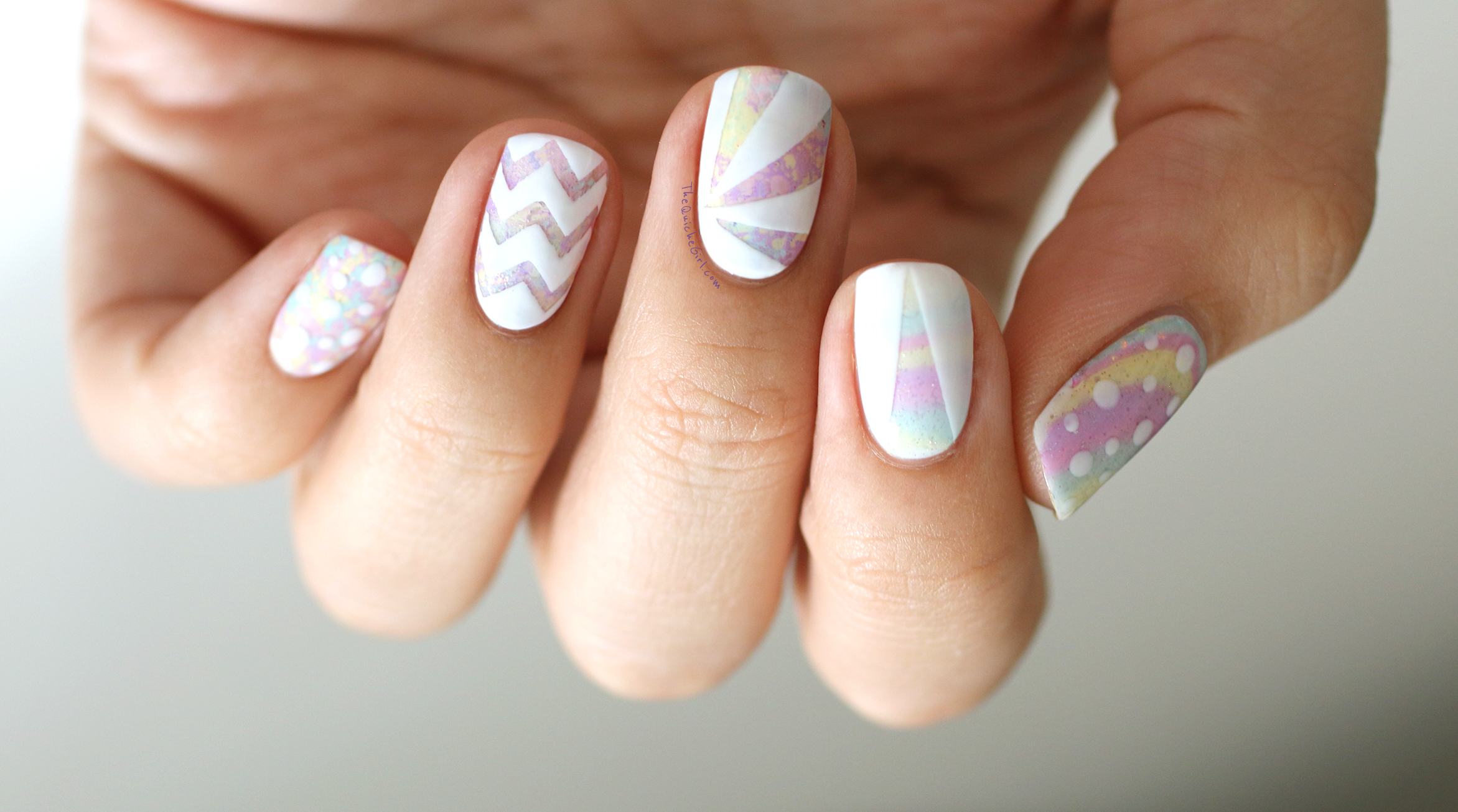 paques, watermarble, chevrons,blanc, waterspot, QuicheGirl