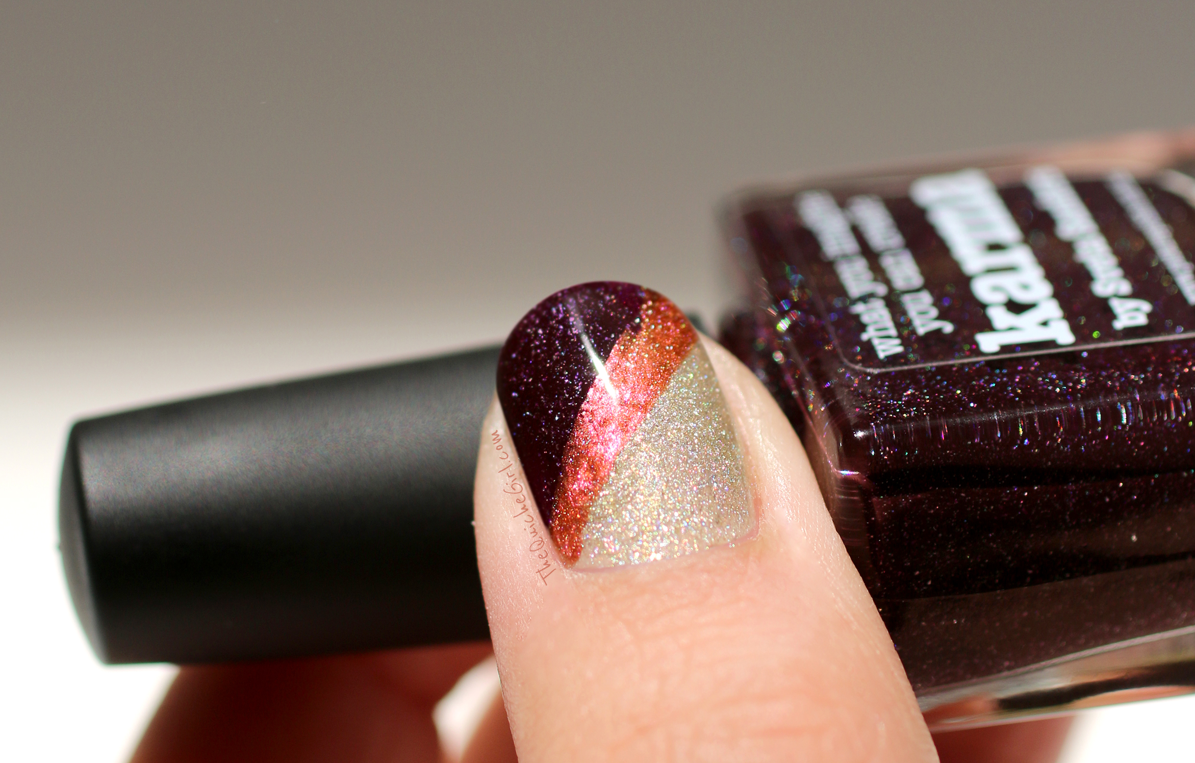 pouce, macro, nail art
