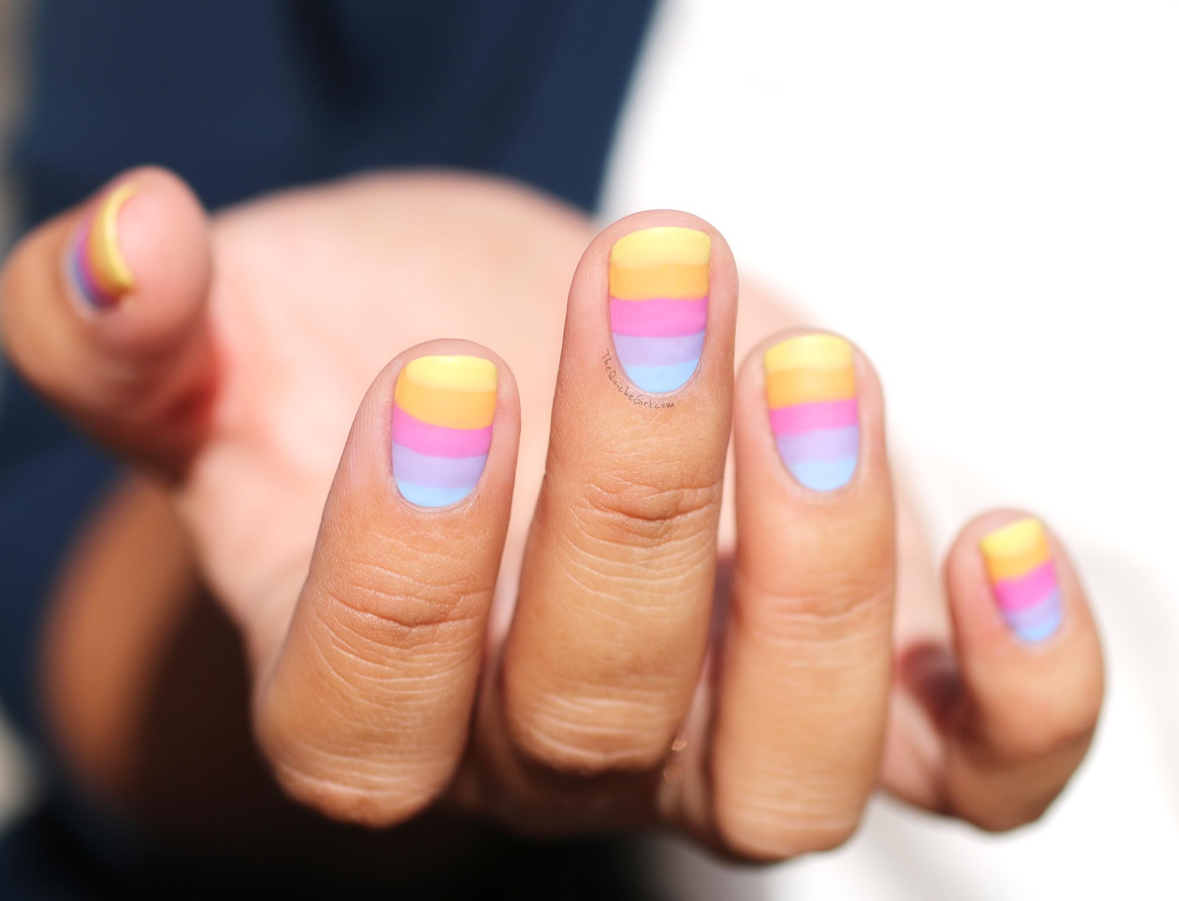 Peggy Sage, rainbow, degrade, main droite QuicheGirl